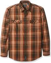 G.H. Bass Men's Mountain Twill Double Pocket Plaid Long Sleeve Shirt
