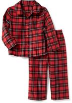 Old Navy 2-Piece Plaid Flannel Sleep Set for Toddler & Baby
