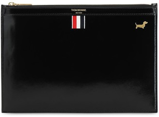 Thom Browne Smooth Leather Pouch