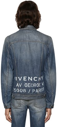 Givenchy Medium Vintage Logo Address Denim Jacket