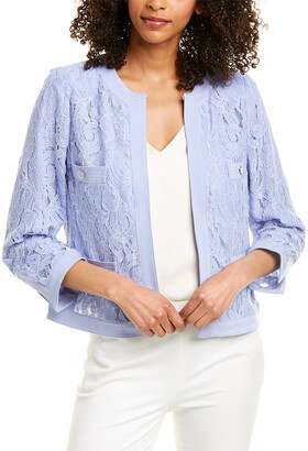 Anne Klein Framed Lace Jacket