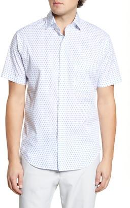 Peter Millar Catch Of The Day Regular Fit Short Sleeve Button-Up Shirt