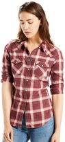 Levi's Women's Classic Tailored Western Plaid Shirt
