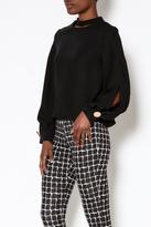 Gracia Black Long Sleeve Top