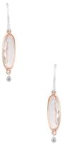 Meira T 14K Two-Tone Gold, Morganite & 0.03 Total Ct. Diamond Drop Earrings