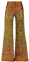 Halpern Ombre Sequinned Wide-leg Trousers - Womens - Gold Multi