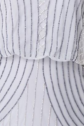Little Mistress Alexis Grey Hand Embellished Midi Dress