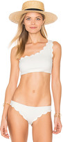 Marysia Swim Santa Barbara One Shoulder Bikini Top