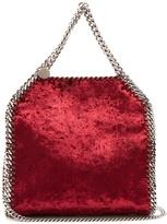 Stella McCartney Falabella mini crushed-velvet cross-body bag