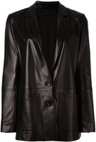 Drome button up jacket - women - Leather/Acetate/Cupro - S