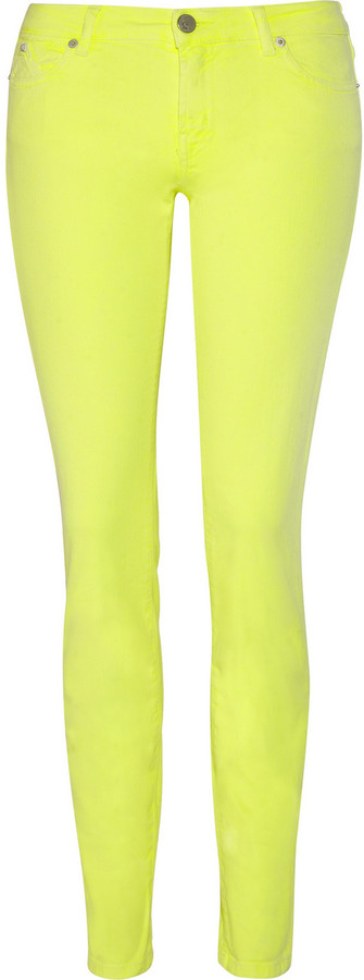 Karl Lagerfeld Dina neon low-rise skinny jeans