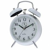 Acctim Large-Bell Alarm Clock - White by