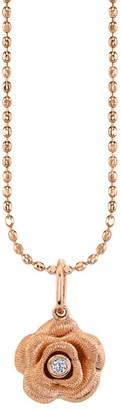 Sydney Evan 14K Rose Gold & Diamond Rose Pendant Necklace
