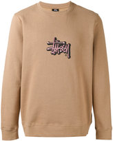 Stussy embroidered logo sweatshirt - men - Cotton/Polyester - M