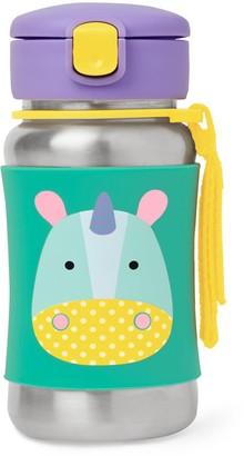 Skip Hop Zoo 12-ounce Stainless Steel Straw Bottle