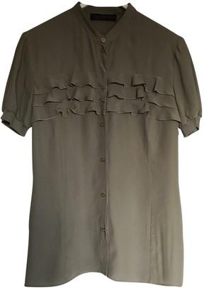 Trussardi Jeans Khaki Silk Top for Women