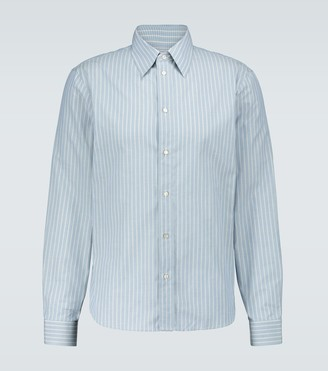 Gucci Striped long-sleeved cotton shirt