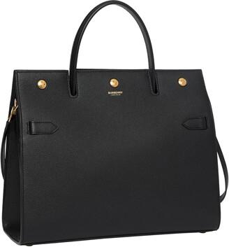 Burberry Medium Title Leather Bag
