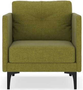 Corrigan Studio Croce Armchair Fabric: Aubergine, Leg Color: Black