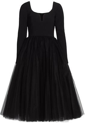 Carolina Herrera Sweetheart A-Line Tulle Dress