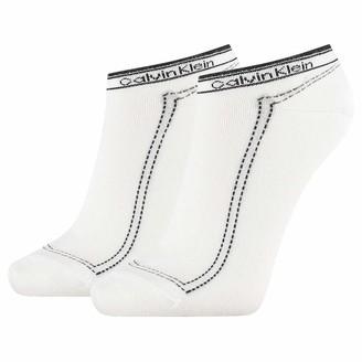 Calvin Klein Women's Sneaker 2p Legwear Logo Kimmy Socks