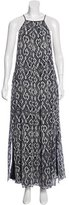 Derek Lam 10 Crosby Abstract Print Maxi Dress