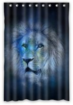 "Lion shower curtain Best Lion King Shower Curtain, Shower Rings Included 100% Polyester Waterproof 48"" x 72"""