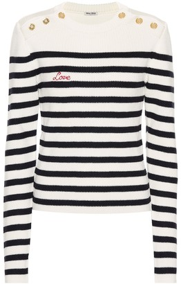 Miu Miu Striped wool sweater