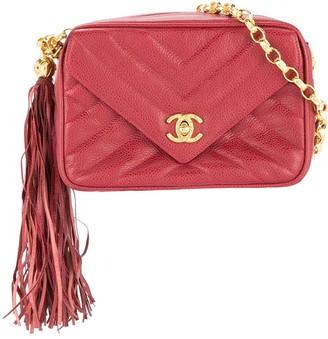 Chanel Pre Owned 1991-1994 CC Logos Fringe Chain Shoulder Bag