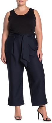 City Chic Tie Waist Culotte Pants (Plus Size)