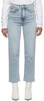 Rag & Bone Blue Jane Super High-Rise Ankle Cigarette Jeans