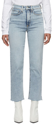 Rag & Bone Blue Jane Super High-Rise Ankle Cigarette Jeans
