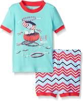 Petit Lem Girls' Baby 2 Piece Short Sleeve Top and Short Pajama Set-Fashionista