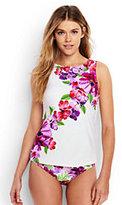 Lands' End Women's Mastectomy High-neck Tankini Top-Light Fuchsia Italian Floral