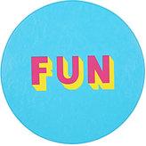 "Lisa Perry Reversible ""Fun"" Circular Placemat"