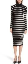 Alexander Wang Women's Stripe Knit Turtleneck Dress