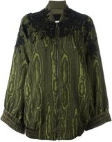 Antonio Marras embellished jacquard bomber jacket