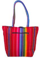 Multi Color Tote Shoulder Bag in Hand Woven Cotton, 'Rainbow Fiesta'