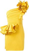 DSQUARED2 one shoulder rose dress