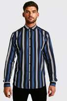 Black Long Sleeve Stripe Shirt