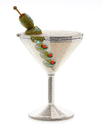 Judith Leiber Beaded Martini Glass Cocktail Clutch