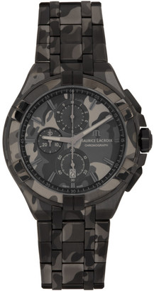 Maurice Lacroix Black Camouflage AIKON Chronograph 44mm Watch