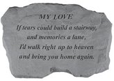 Kay Berry Inc Kay Berry- Inc. 97720 My Love-If Tears Could Build A Stairway - Memorial - 16 Inches x 10.5 Inches x 1.5 Inches