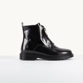 Maje Leather boots with zip detailing