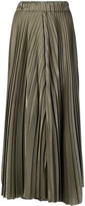 Dusan metallic pleated skort