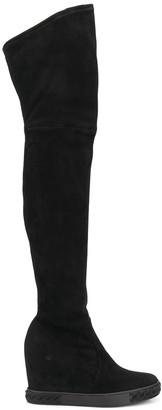 Casadei Wedge Thigh-High Boots