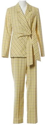Tibi Yellow Wool Jackets
