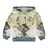 Dolce & Gabbana Childrens Girl Vaso Fiori Bomber Jacket