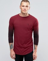 Religion 3/4 Sleeve T-Shirt With Raglan Fade Detail Sleeve