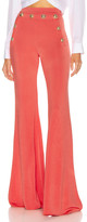 Balmain Button Embellished Flare Pant in Rose | FWRD